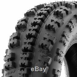 SunF 22x7-10 ATV Tires 22x7x10 AT Race Tubeless 6 PR A027 Set of 2