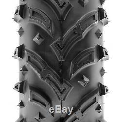 SunF 25x8-12 25x10-12 A/T Dirt & Mud ATV UTV Tires 6 PR A024-1 Set of 4
