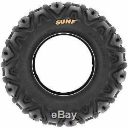 SunF 25x8-12 & 25x10-12 ATV UTV SxS All Terrain 6 Ply Tires A033 Set of 4