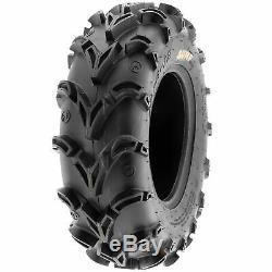 SunF 25x8-12 25x10-12 All Terrain ATV UTV A/T Mud Tires 6 PR A050 Bundle