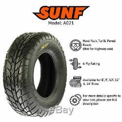 SunF 25x8-12 25x10-12 All Terrain ATV UTV Tires 6 PR Tubeless A021 Set of 4