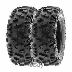 SunF 25x8-12 25x11-10 A/T ATV Tires 6 PR Tubeless POWER I A033 Bundle