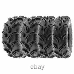 SunF 26x9-12 26x11-12 All Terrain ATV UTV A/T Mud Tires 6 PR A048 Bundle
