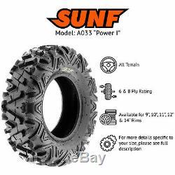 SunF 27x9-12 27x11-12 A/T ATV UTV Tires 6 PR Tubeless POWER I A033 Bundle