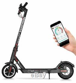 Swagtron High Speed Electric Scooter 8.5 Cushioned Tires Cruise Control SG-5S