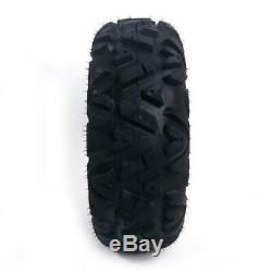 TWO Balck 6 PLY 25x8-12 ATV TIRES front left & right with warranty 25x8-12