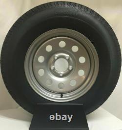 Trailer Tire On Rim ST205/75R15 205/75 R 15 Load D 5 on 5 Silver Modular Wheel