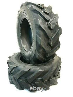 Two 23X8.50-12 Lawn Tractor 6PLY Super Lug Tires Trencher 23x8.5-12 Heavy Duty