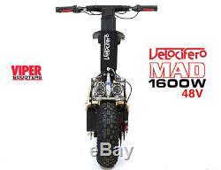 Velocifero Mad 1600w 48V Electric Scooter, New 2020 Model, Terrain Tyres, VQ
