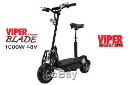 Viper Blade 1000W 48V Electric Scooter New 2020, Road Tyres