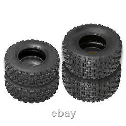 Weize Set of 4 Sport ATV UTV Tires 21x7-10 Front & 20x10-9 Rear, 4PR